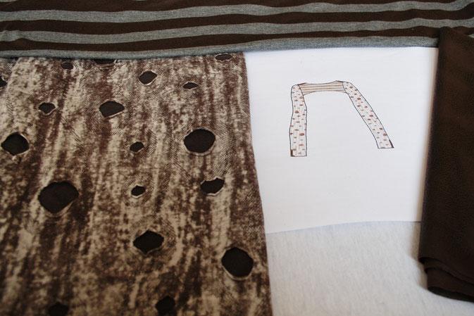 Fetzen-Minirock aus neuen Stoffen - fertig vorne - Zebraspider DIY Blog