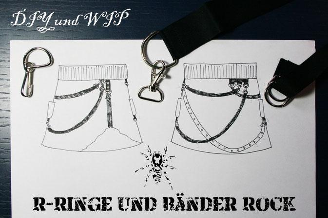 D-Ringe und Bänder für einen Rock - DIY und WIP