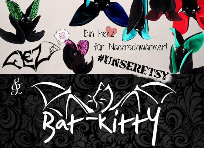 #UnserEtsy Shops für Fledermausfans - Flezart und Batkitty - Zebraspider DIY Blog