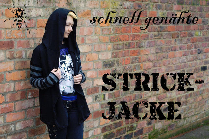 Schnell genähte Strickjacke - Cardigan - Zebraspider DIY Anti-Fashion Blog