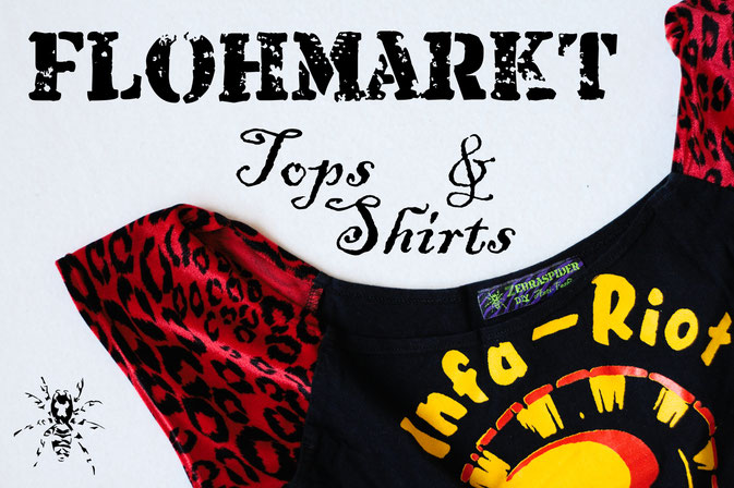 Flohmarkt: Oberteile - Tops & Shirts - Zebraspider DIY Anti-Fashion Blog