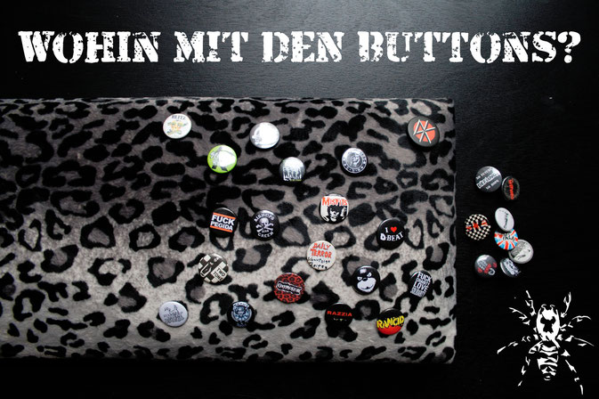 Wohin mit den vielen Buttons? - Buttonbrett selber machen - Zebraspider DIY Blog