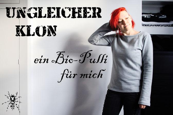 Ungleicher Klon - ein Bio-Pulli für mich - Zebraspider DIY Anti-Fashion Blog