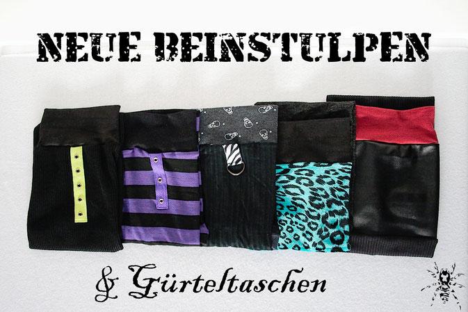 Neue Beinstulpen und Gürteltaschen - 5 Paar Stulpen - Zebraspider DIY Anti-Fashion Blog