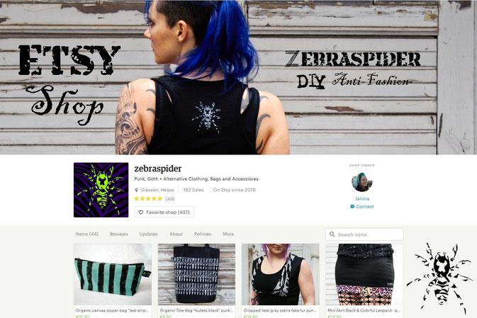 Der Shop ist wieder online! + Coupon - Zebraspider DIY Blog