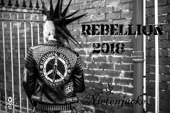 Rebellion Festival 2018 und Nietenjacke - Punk in Blackpool - Zebraspider DIY Anti-Fashion Blog
