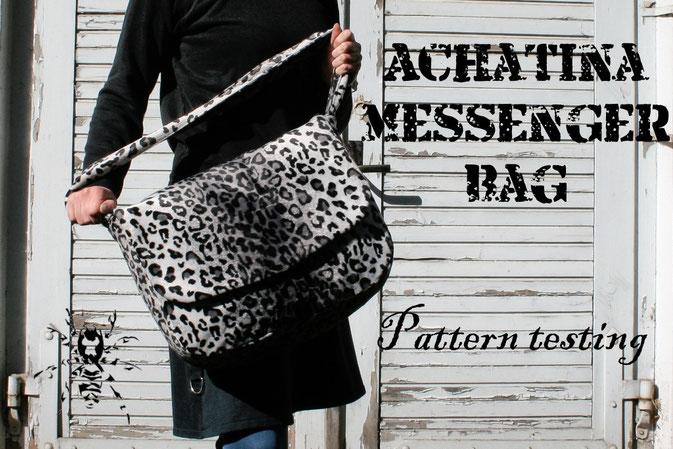 Achatina Messenger Bag - SeamstressErin Designs - pattern testing by Zebraspider