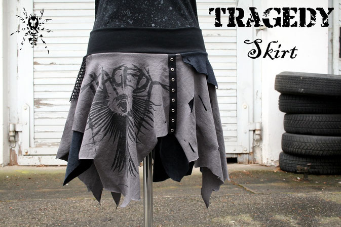 Tragedy Skirt made from 2 T-shirts