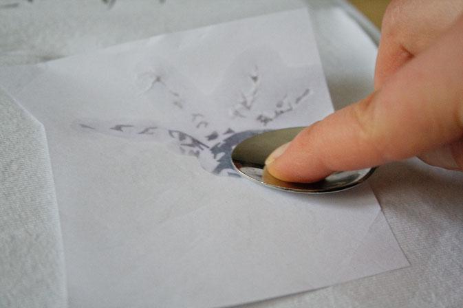 Testreihe - Nitrofrottage vs. Lavendeldruck - Lavendelöl - Zebraspider DIY Blog