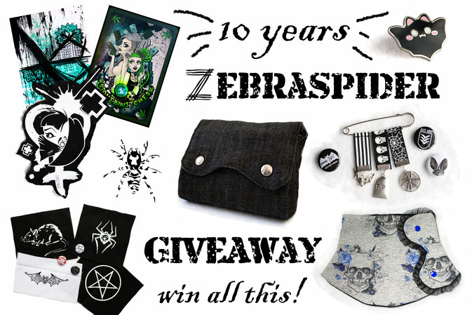 10 years - Zebraspider Giveaway - gewinne dieses Paket - Zebraspider DIY Anti-Fashion Blog
