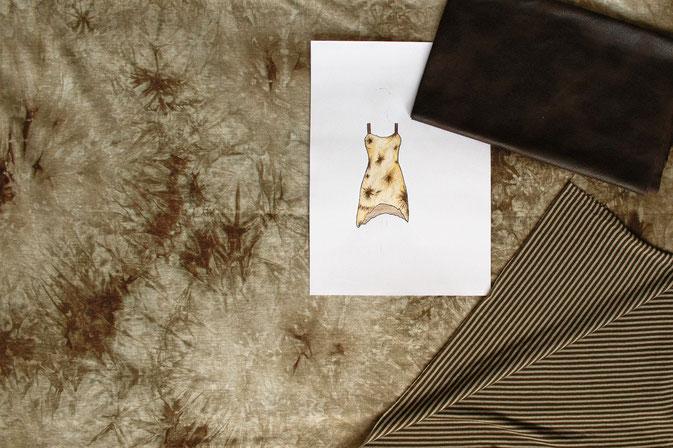 Fetzen-Minirock aus neuen Stoffen - Overlock nähen - Zebraspider DIY Blog