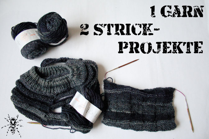 Ein Garn - zwei Strickprojekte - mit ggh Jocker in Grautönen - Zebraspider DIY Anti-Fashion Blog