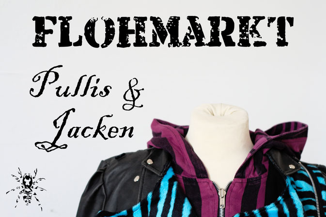 Flohmarkt: Pullis und Jacken - Zebraspider DIY Anti-Fashion Blog