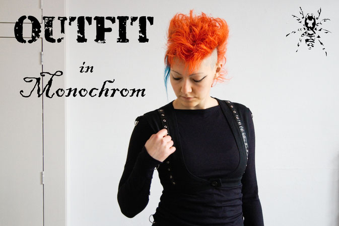 Monochromes Samstags-Oufit - fast ganz schwarz - Zebraspider DIY Anti-Fashion Blog