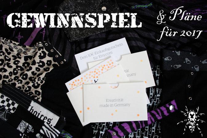 Pläne für 2017 und ein Gewinnspiel - Etsy-Gutscheine - Zebraspider DIY Blog