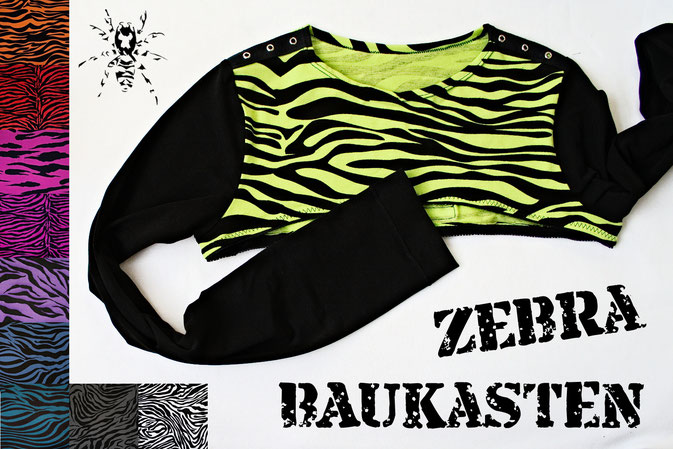 Der Zebra-Baukasten - individualisierbare Röcke und Shrugs - Zebraspider DIY Anti-Fashion Blog