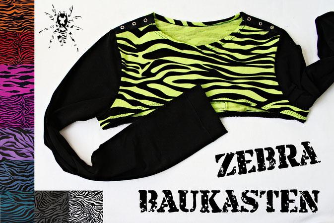 Der Zebra-Baukasten - individualisierbare Röcke und Shrugs - Zebraspider DIY Anti-Fashion Blog