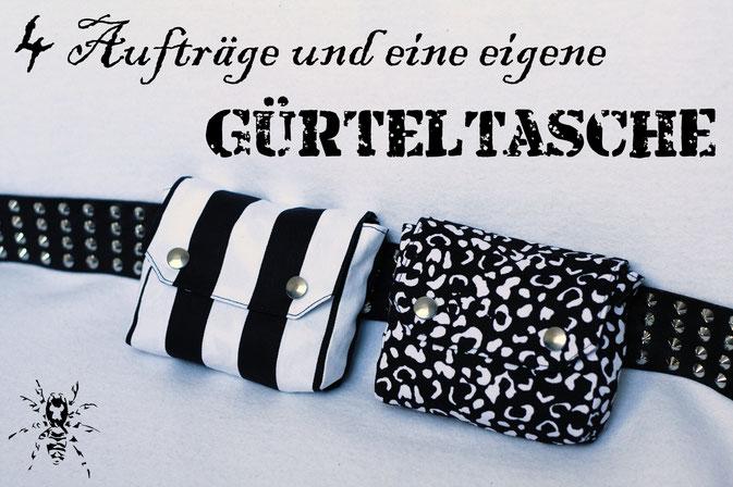 4 Aufträge und eine eigene Gürteltasche - Zebraspider DIY Anti-Fashion Blog