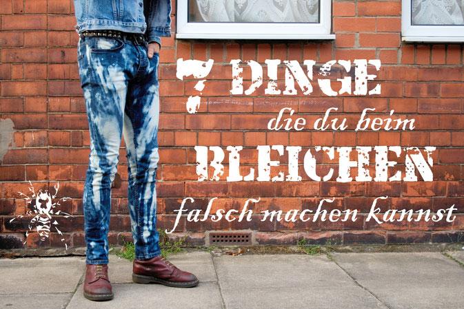 7 Dinge die du beim Bleichen falsch machen kannst - Domestosjeans Tutorial - Zebraspider DIY Anti-Fashion Blog