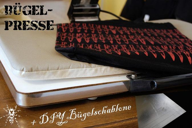 Bügeln für Faule - Bügelpresse und DIY Bügelschablone - Zebraspider DIY Blog