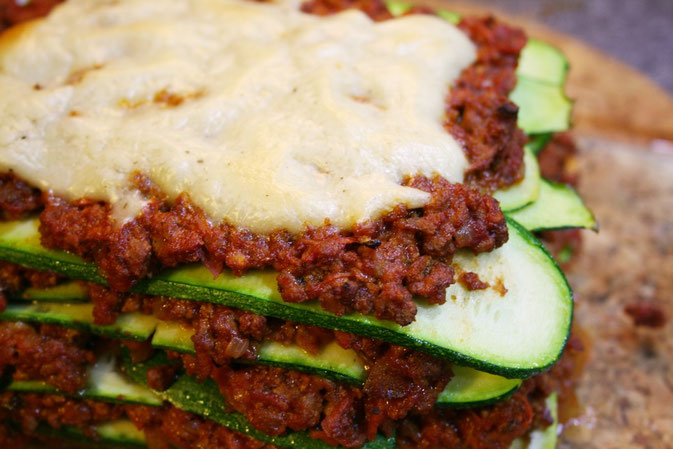 Zucchini-Tofu-Lasagne - vegan + glutenfrei + low-carb + superlecker!