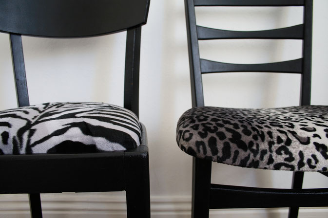Punkrock zum Sitzen - Leo-/Zebrafellstühle - Zebraspider DIY Blog