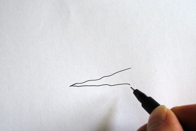 Zebramuster malen Schritt für Schritt - Zebrastreifen - Zebraspider DIY Blog