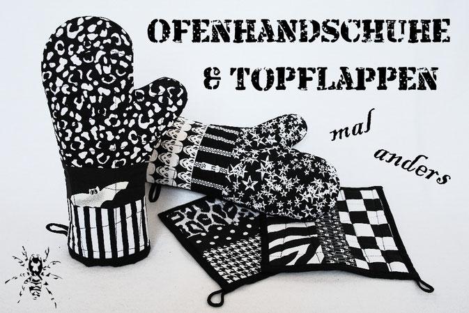 Ofenhandschuhe und Topflappen mal anders - ohne Schrägband mit Magnet - Zebraspider DIY Blog