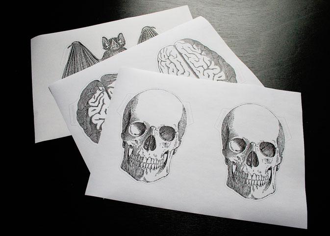Halloween Papiergirlande - Pdf zum Ausdrucken - Zebraspider DIY Blog