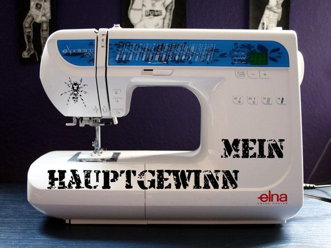 Mein Hauptgewinn - Elna experience 520 Nähmaschine - Zebraspider Blog