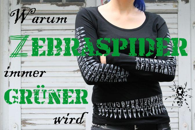Warum Zebraspider immer grüner wird - Kleidung aus Biobaumwolle - Zebraspider DIY Anti-Fashion Blog