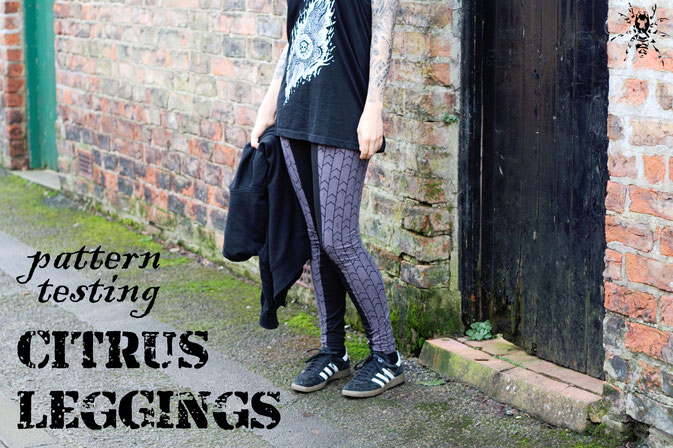 Citrus Leggings - Schnittmuster getestet - Zebraspider DIY Anti-Fashion Blog