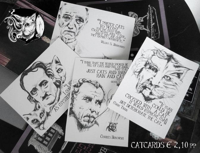 Catmansion - Extraordinary spooky jewellery - cat cards Katzen Literatur Postkarten - Zebraspider DIY Blog