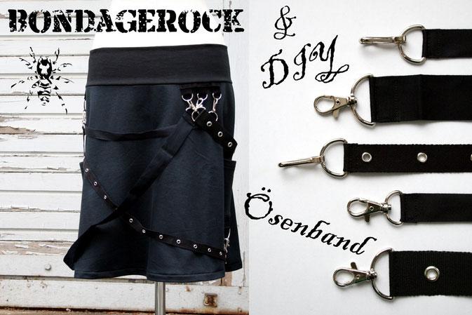Bondage - Rock und DIY Ösenband - D-Ringe, Ösen und Bänder