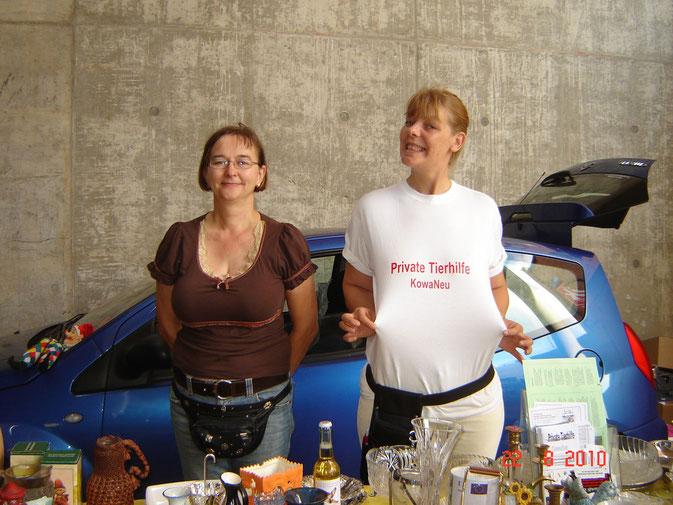 Evelyn Keil & Imke Jostmeier. Ja Imke,Du hast ein schönes T-Shirt an :-)