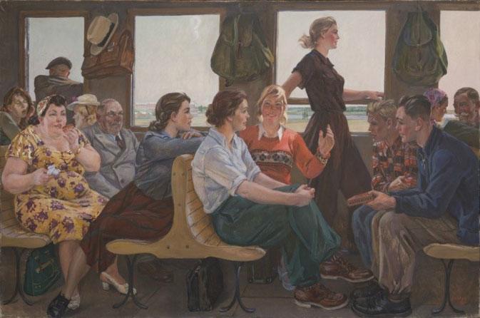 """Aleksandr Dejneka, """"Le poesie di Majakovskij"""" (1955)"""