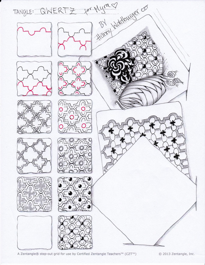 Qwertz by Zenjoy stepout zentangle