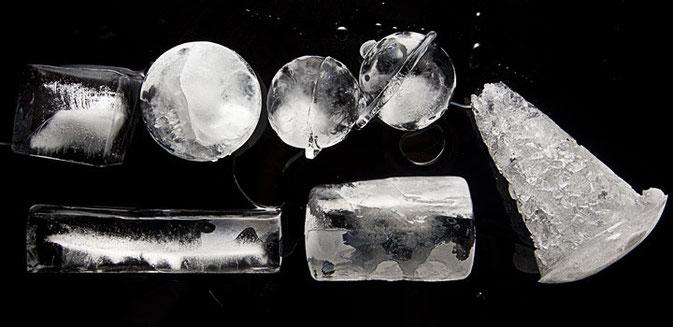 Tipos de hielo para la cocteleria