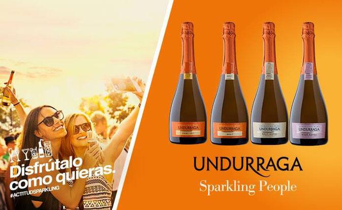 """Undurraga"",""actitud sparkling"",""sparkling people"""