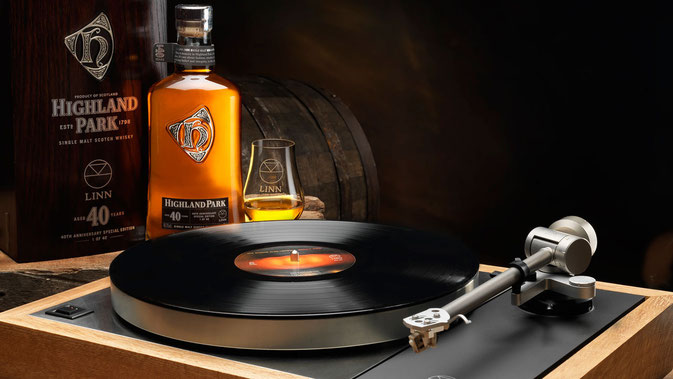 """whisky cask sondek LP12"",""highland park aged 40 years"",""linn music"",""whisky"",""whisky barrel"""