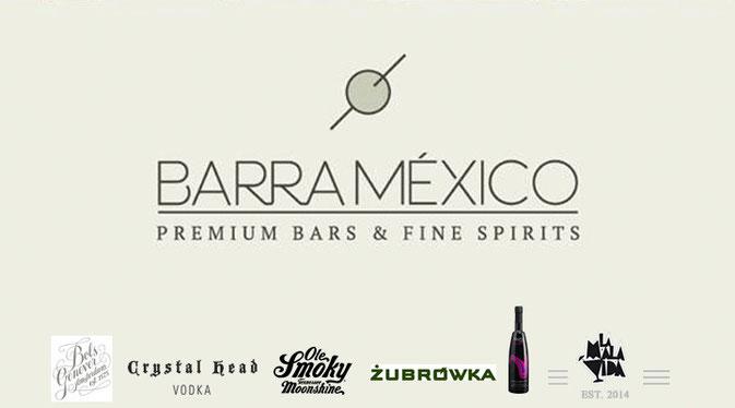 """Barra México"",""Premium bars & fine spirits"""