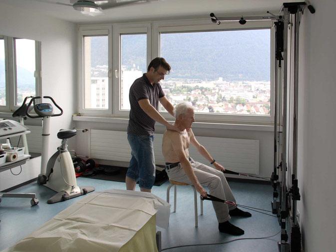 Der Behandlungsraum von Physiotherapie Artho.