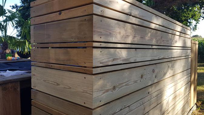 Jardinière en lame de terrasse pin classe 4