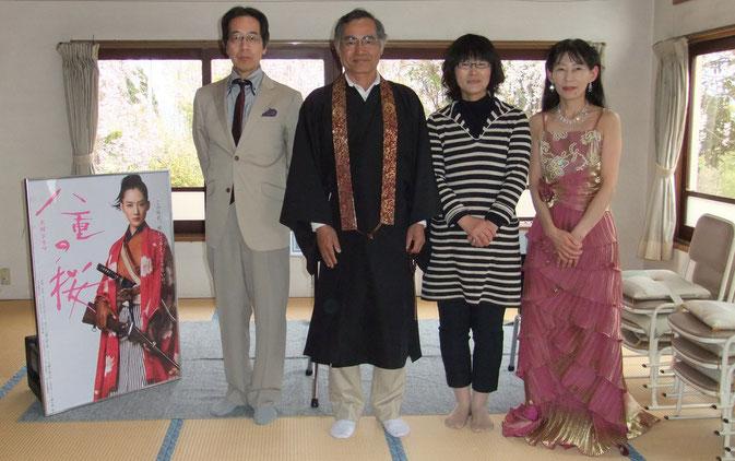 Takano、柴田住職、柴田良枝先生、Miyuki
