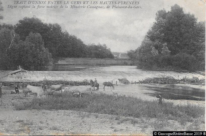 La digue des Charrutots Tieste Uragnoux canal de Cassagnac