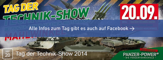 Facebook Event Tag der Technik-Show 2013 bei Panzer-Power