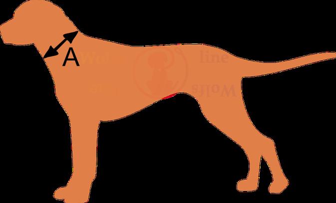 Wolfsline Halsband messen Biothane
