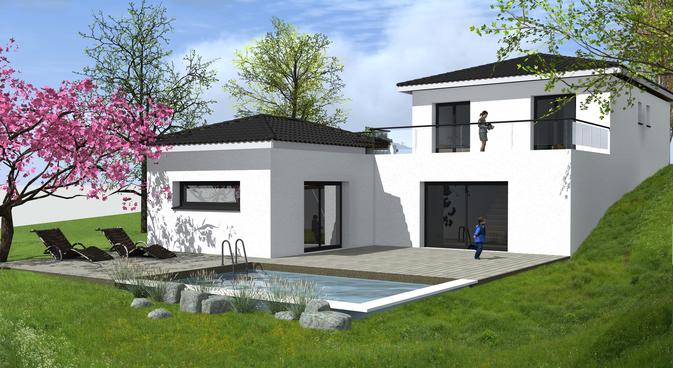 plan maison moderne 130