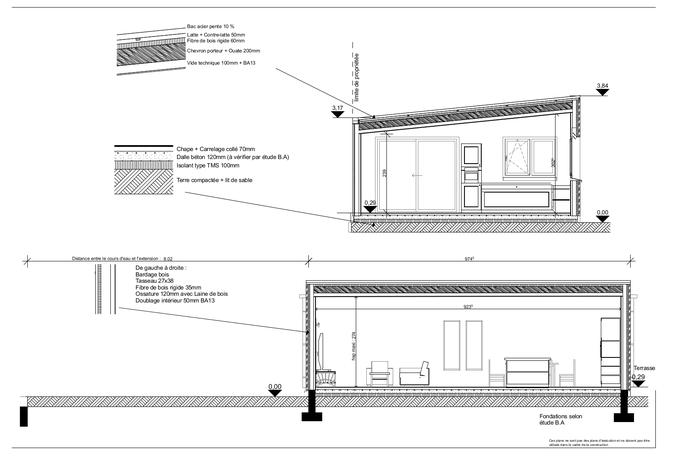 Plan extension maison 40m2 photos de conception de maison - Agrandissement ossature bois prix ...