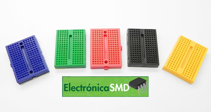 mini protoboard, breadboard guatemala, protoboard, prototipo, electronica, electronico, mini protoboard 170 puntos colores